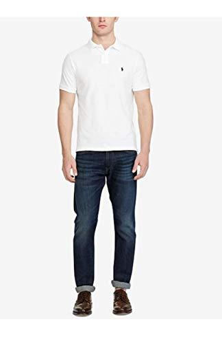 (Polo Ralph Lauren Men Medium Fit Interlock Polo Shirt (XL, White))