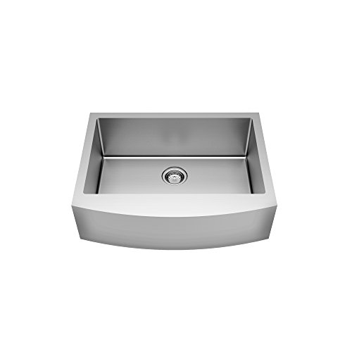 American Standard 18SB.9332200A.075 Pekoe 33X22-Inch Apron Sink With Grid And Drain, Stainless Steel ()
