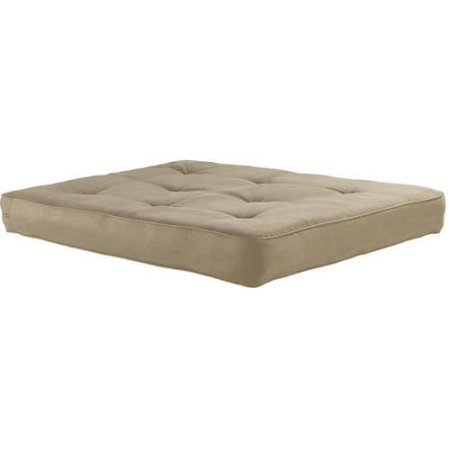 8 Independently Encased Coil Premium Full Futon Mattress, Quality Foam and Polyester Layering Between Cover and Coils, Fits Any Standard Full Sized Futon Frame + Expert Guide (Tan) (8 Independently Encased Coil Premium Full Futon Mattress)