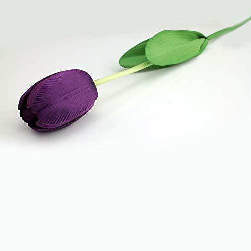 cm Artificial Tulips fake Flowers PU flower Single Long Stem Bouquet Beautiful Simulation Flower For Home Wedding Decor ()