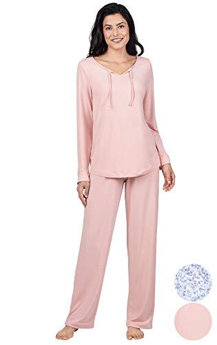 Addison Meadow Ladies Pajamas Soft - Womens Pajamas Set, Tie Neck