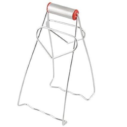 Amazon.com: Acero inoxidable plegable Plato Placa Tong clip ...