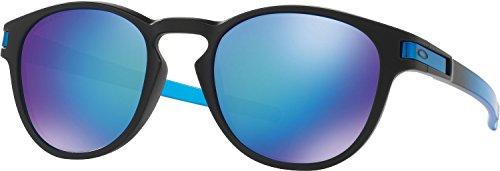 Oakley Men's Latch Polarized Iridium Oval Sunglasses, Sapphire Fade, 53 mm