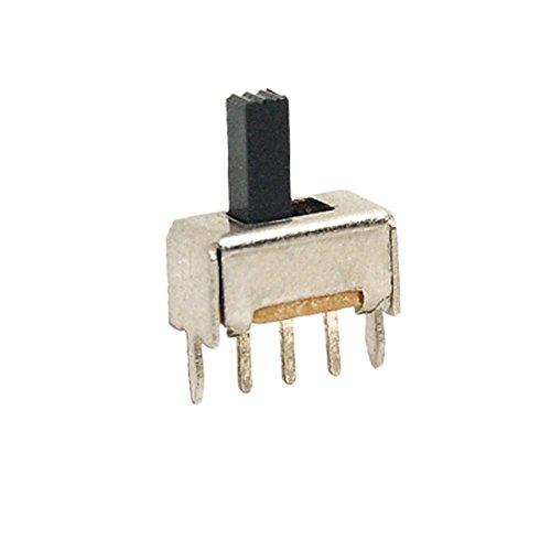 uxcell 10pcs On/On 2 Position SPDT Panel Miniature Vertical Slide Switch 3 Pin SS12D01 0.17a Miniature