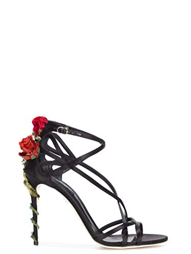 Dolce e Gabbana Women's Cr0029a763080999 Black Leather Sandals