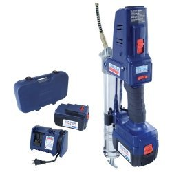 18 Volt Lithium Ion Battery-Operated Grease Gun with 2 Batteries Tools Equipment Hand Tools