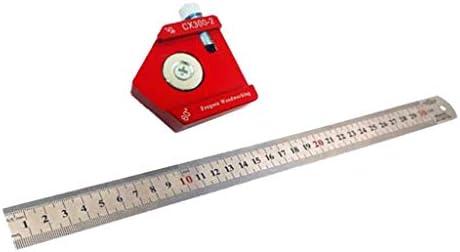 PETSOLA 木工定規 ストレート ケガキ工具 スクライバ 90度 45度 60度 マーキング 測定ルーラー アルミニウム合金