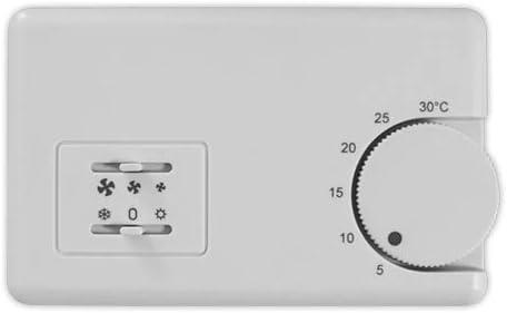 DOJA Industrial | Termostato Fan Coil GUT TBF-3 | Termostatos 2 Tubos Selector Frio/Calor/Velocidades