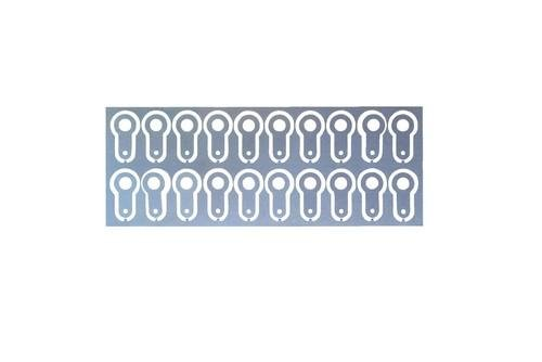 (20) 8BA n/silver tags for lectralok switches Eckon