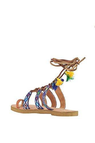 Cuir Sandales Blue Multicolore Femme Coral MCGLCAB03080E g14IXq