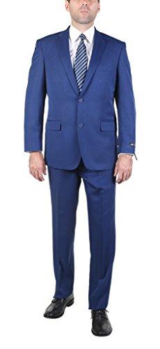 P&L Men's 2-Piece Modern Fit 2 Buttons Side Vent Suit Jacket Pleat (Textured Suit Jacket)
