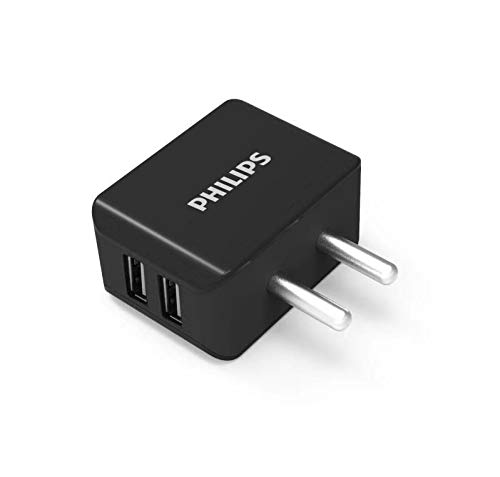 Philips DLP2502B 3.1A Dual USB Wall Charger/Mobile Charger Black
