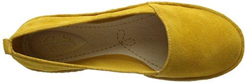 Sun Femme Espadrilles Clovelly yellow Jaune Suede Clarks 1ZzPqwP
