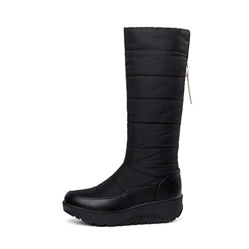ter Plus Size Boots Fur Warm Cotton Down Shoes Waterproof Snow Platform Mid Calf Shoes ()