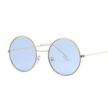 SQYJING Gafas de Sol para Vintage Redondo tamaño pequeño ...