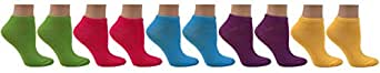 Multi Sport Womens Athletic Low Cut Socks, 12 Pairs, Size 9-11 (Assortment #7)