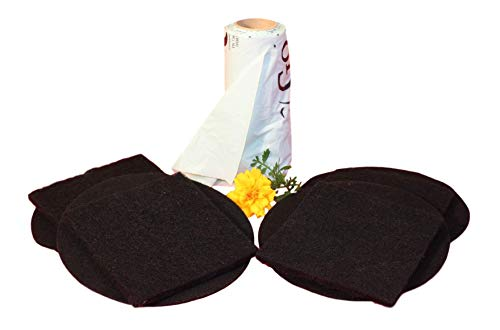 Compost Pail Replacement Filters, Fits 1 Gallon Size Bins, Includes 4 Sets Dual Charcoal Filters and 50 Compostable Bags Liner Bundle - by Gardenatomy (1 Gallon Size- Filter & Bags)