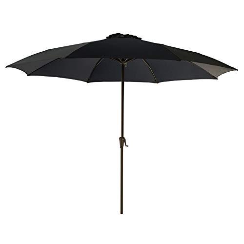 FLAME&SHADE 11' Outdoor Market Patio Umbrella with Tilt for Terrace Table Balcony Deck Backyard or Garden, Navy Blue