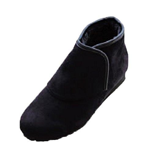 防寒ブーツ リシェス 防滑ソール ブラック 冬 女性用 婦人 高齢者 靴 ウォーキングシューズ 安心 補助 介護 敬老 贈り物/M(22.5cm~23.0cm) B075T5P8ZF M(22.5cm~23.0cm)  M(22.5cm~23.0cm)