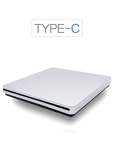 External CD DVD Drive, Haiway Portable Slot-in CD/DVD Re-Writer Burner Super Drive High Speed Data Transfer for Laptop Desktop PC Win 7/8/10 Linux OS Apple Mac(Type-C) by Haiway88 (Image #6)
