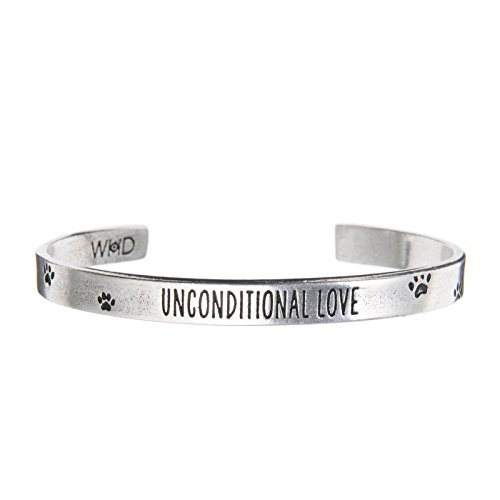 Quotable Cuffs Unconditional Love Bracelet or Cuff - Pet Sympathy Gift or Memorial