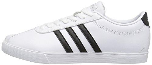Bianco white Fashion Eu matte M Adidasb74559 42 black Donna Courtset Silver qZUPPt