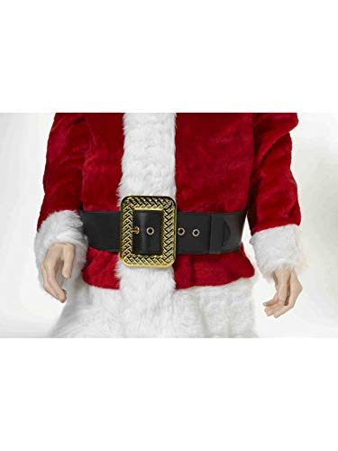 Forum Novelties Men's Deluxe Adult Santa Belt Costume Accessory, Black, One Size -
