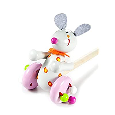 Push and Pull Baby Wooden Toy Mouse for Baby or Toddler Girl Boy : Baby