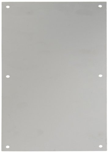 Rockwood 70F.28 Aluminum Standard Push Plate, Four Beveled Edges, 16'' Height x 8'' Width x 0.050'' Thick, Clear Anodized Finish by Rockwood