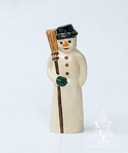 Vaillancourt Folk Art American Snowman with Broom for sale  Delivered anywhere in USA