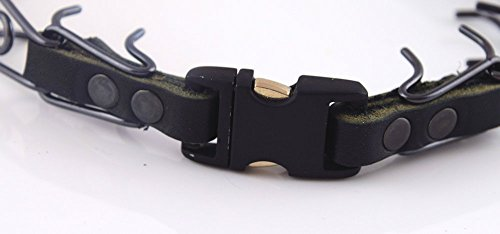Herm Sprenger Black Stainless Steel Prong Collar with Pawmark Quick-Snap Buckle - Large by Pawmark Products (Image #1)