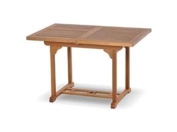 Tavolo da giardino rettangolare in legno allungabile: amazon.it