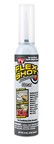 Flex Shot 8oz Rubber Sealant (FSH8C), 8 oz, Clear (Flex Titan Spray)