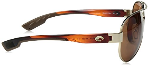 Costa South Point Sunglasses Frame: Gold / Lens: Polarized Copper 580