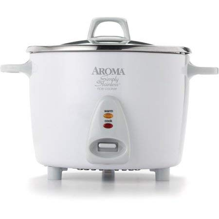 Aroma Professional 14 Cup Simply Stainless Pot Style Rice Cooker - White by Aroma Housewares