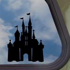 DISNEY Black Decal CASTLE MAGIC KINGDOM Window Sticker (Disney Bumper Stickers compare prices)