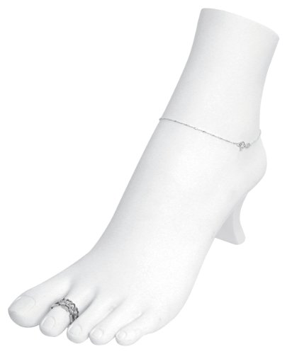 White Polystyrene Toe Ring Chain Ankle Bracelet Foot Display Storage Showcase Stand by Caddy Bay Collection