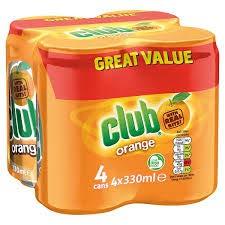 Club Orange Soda Cans 4pk (11.2 oz) Imported from Ireland