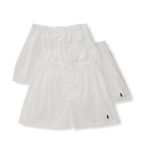 assic Woven Boxer 3-Pack, XL, White ()