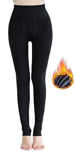 heekpek Pantalon Legging Hiver Femme Legging Hiver Chaud Collants Chauds Femme Épais Velours Fleece Thermique