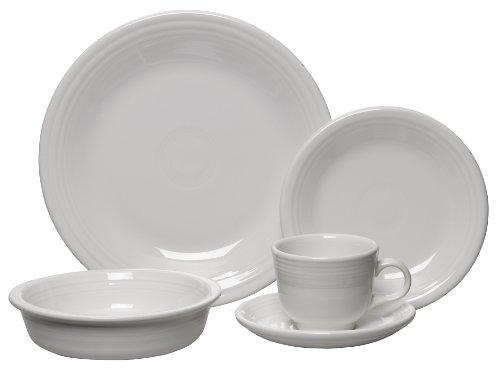 5 Piece Dinnerware Set, White