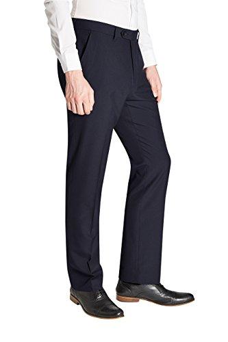 next Homme Pantalon sans pinces Bleu Marine 30 / Regular - Regular Fit