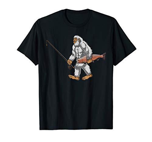 Fly Fishing Yeti Men Gifts Abominable Snowman T Shirt