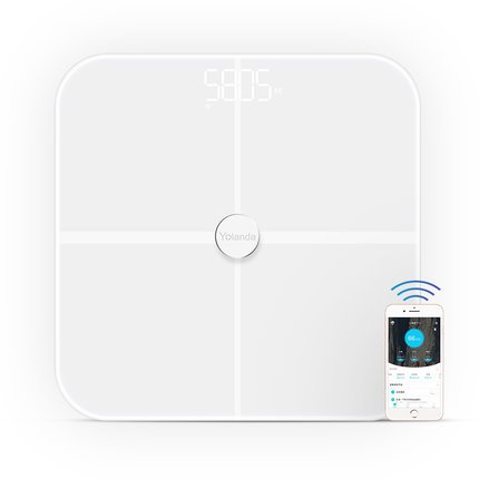 Body Fat Scale, Webat Smart Body Fat Scale with Fitness APP Dual-frequency BIA Measuring Technology