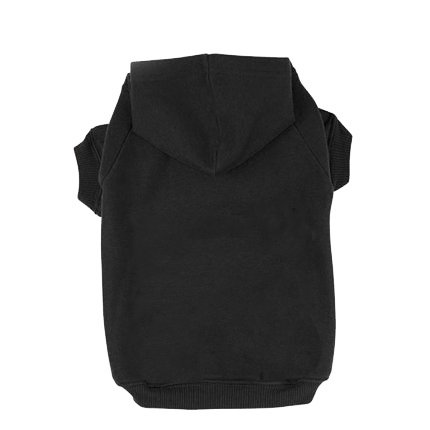 BINGPET Blank Basic Cotton/Polyester Pet Dog Sweatshirt Hoodie BA1002, Black Small
