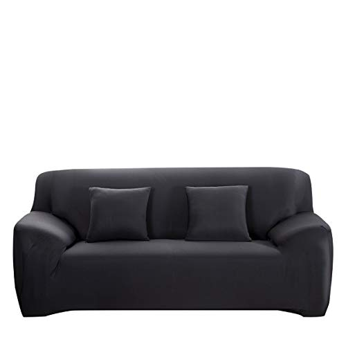 WINOMO Sofa Slipcover Black Couch Covers Furniture Protector with Pillow Cases ()
