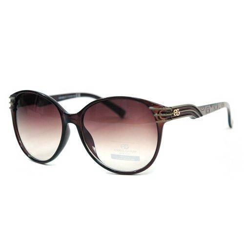 Anais Gvani Women's Fashionable Round Frame Sunglasses w/ Stripe & Stroke Accents - Fashionable Sunglasses 2014