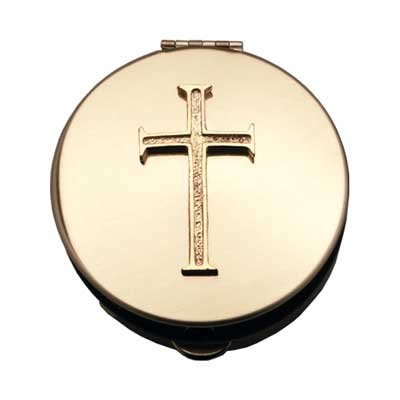 Arts Polished Brass (Cathedral Art PS204 Polished Brass Pyx - Gold Cross Extra Large)