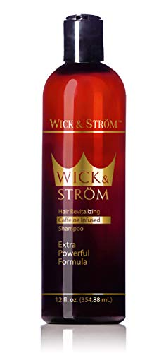 Premium Anti Hair Loss Shampoo - Wick & Strom (Caffeine, Biotin, Saw Palmetto, Aloe Leaf, Keto.+ No Minoxidil) Formulated to Stimulate Hair Growth for Men & Women/Large,12oz.