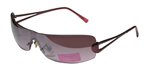 [Thalia Th01 Womens/Ladies Designer Rimless Sunglasses/Shades (0-0-0, Burgundy)] (Android 17 And 18 Costumes)